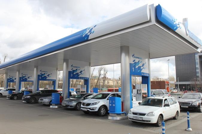 на АЗС «Газпромнефть»